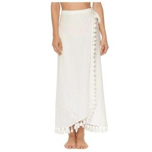 NEW Red Carter Tassel Edge Wrap Skirt Sarong